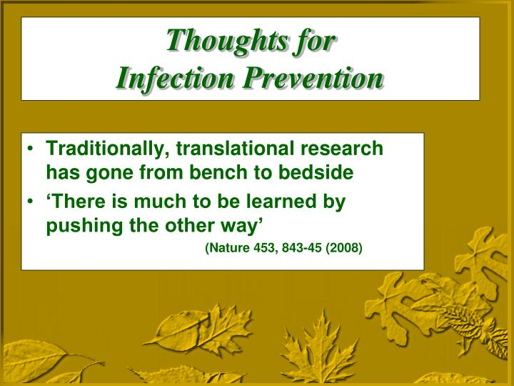 Traditionally, translational research has gone from bench to bedside
