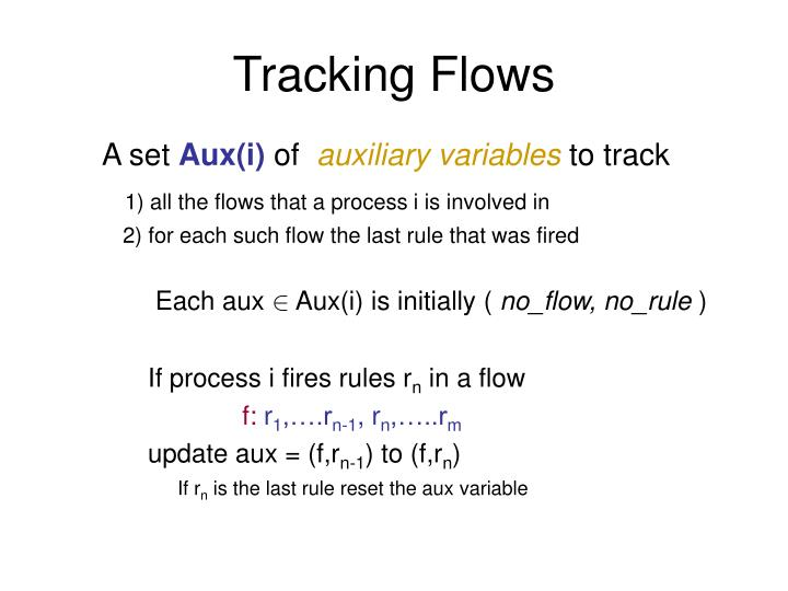 Tracking Flows