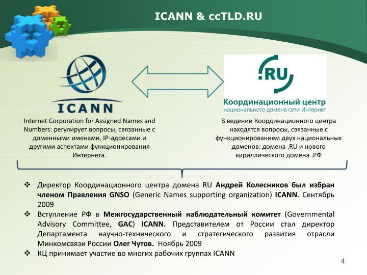 ICANN & ccTLD.RU