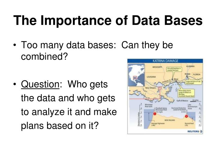 The Importance of Data Bases