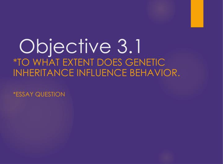 Objective 3 1
