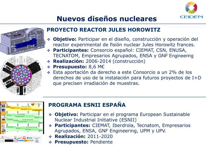 Nuevos diseños nucleares