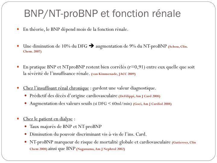 BNP/NT-proBNP et fonction rénale