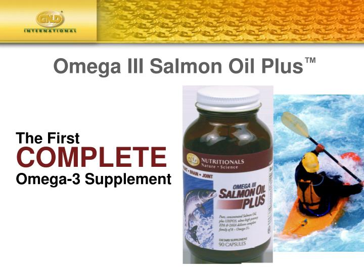 Omega iii salmon oil plus