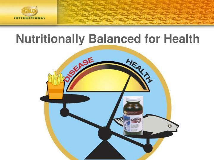 Nutritionally Balanced for Health