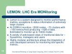 lemon lhc era monitoring
