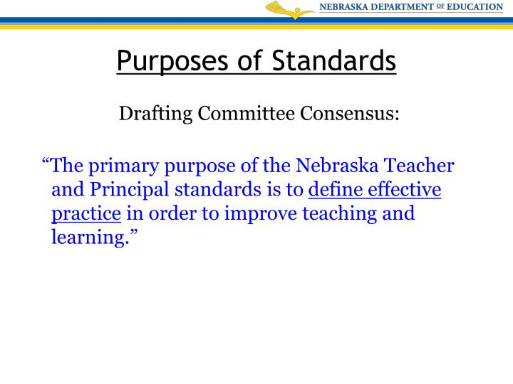 Drafting Committee Consensus: