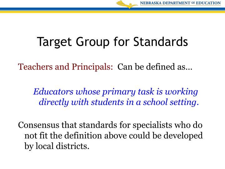 Teachers and Principals: