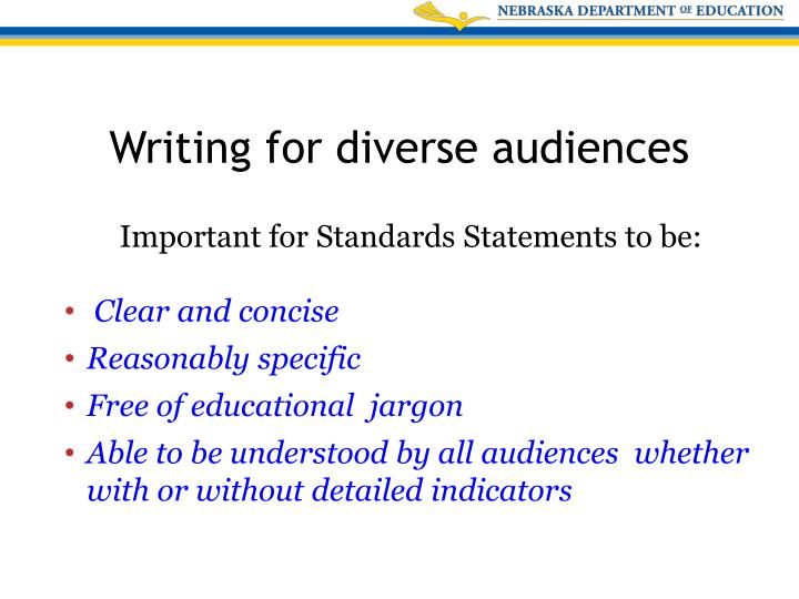 Important for Standards Statements to be: