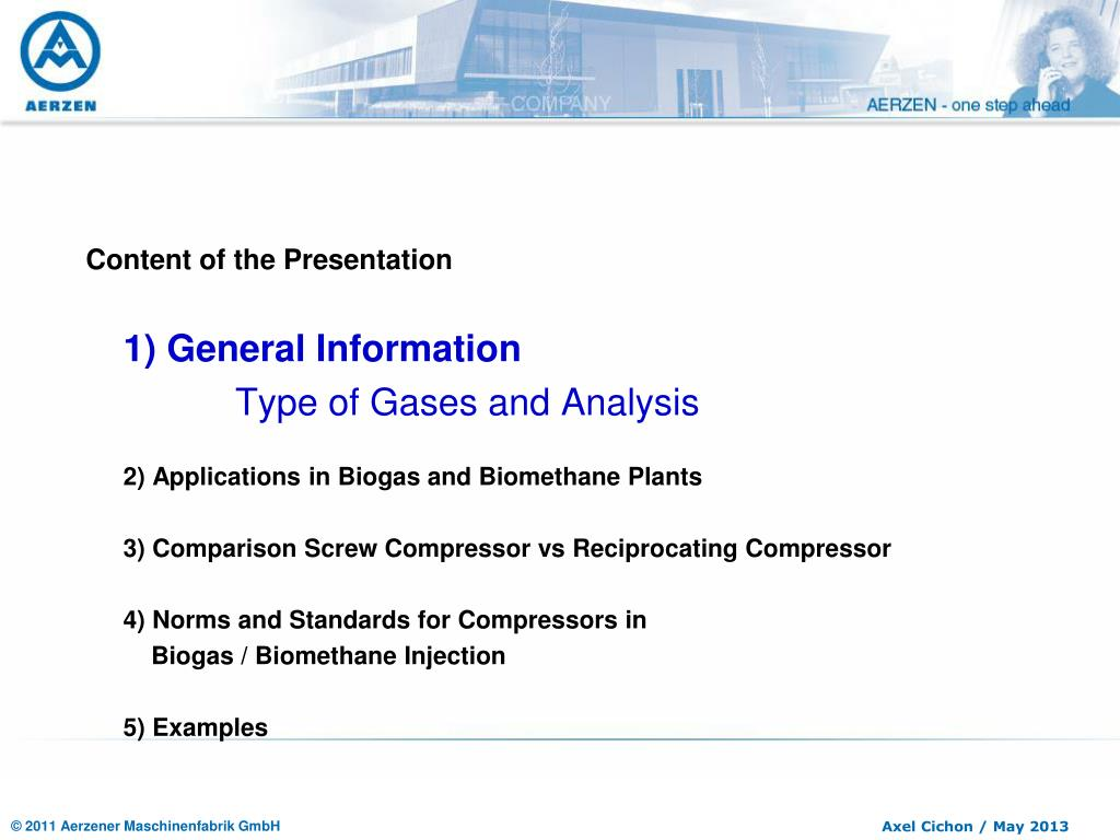 PPT - Renewables Energy – Compressors in Biogas / Biomethane