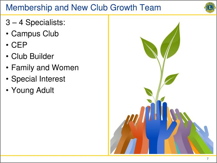 Membership and New Club Growth Team