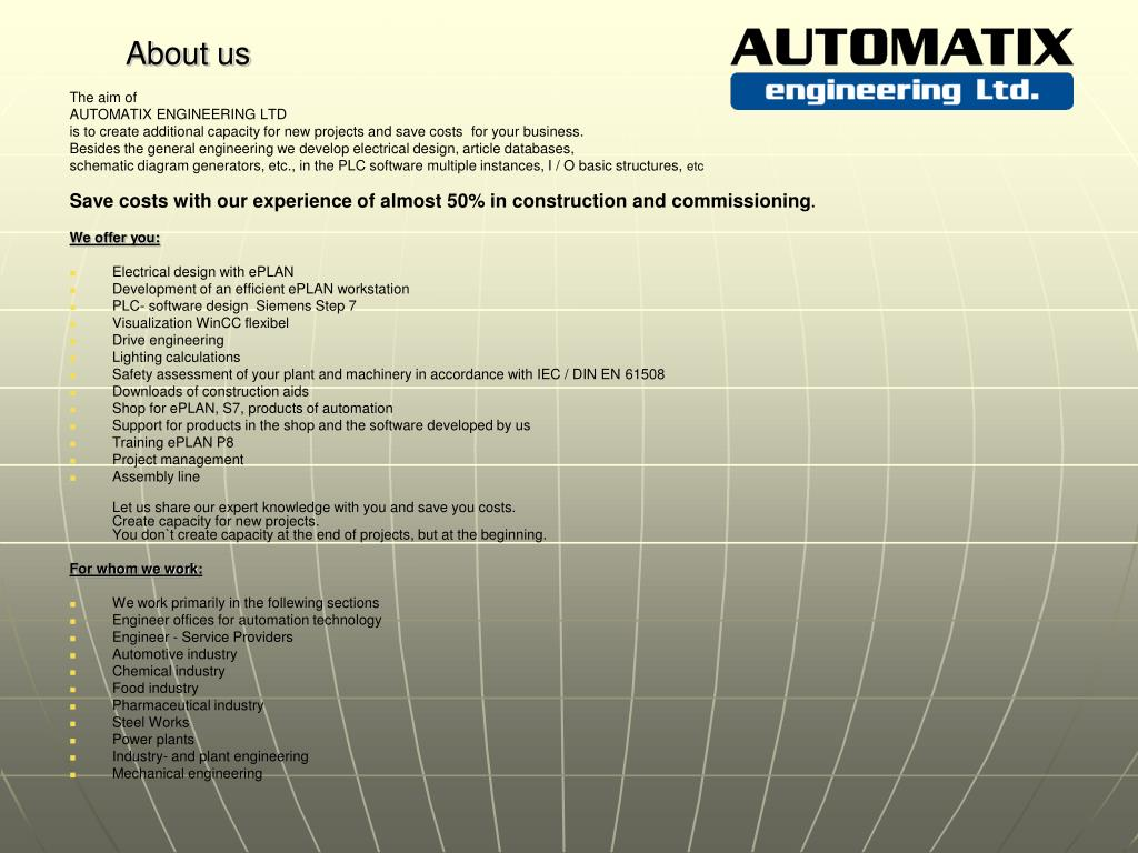PPT - Electrical design PLC Software Visualization Project
