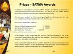 prizes satma awards