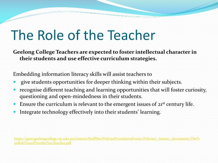 role of teacher as a scholar The purpose of this study was to describe the roles and responsibilities of 17  special education teachers and the challenges they encountered.