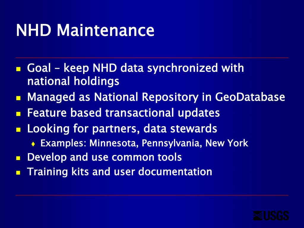 PPT - Data Stewardship and Maintenance for the National