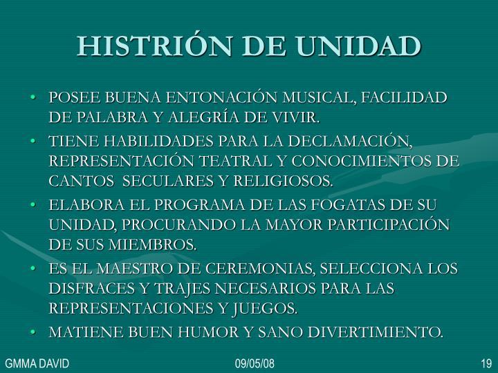 HISTRIÓN DE UNIDAD