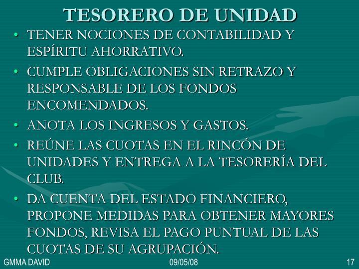 TESORERO DE UNIDAD