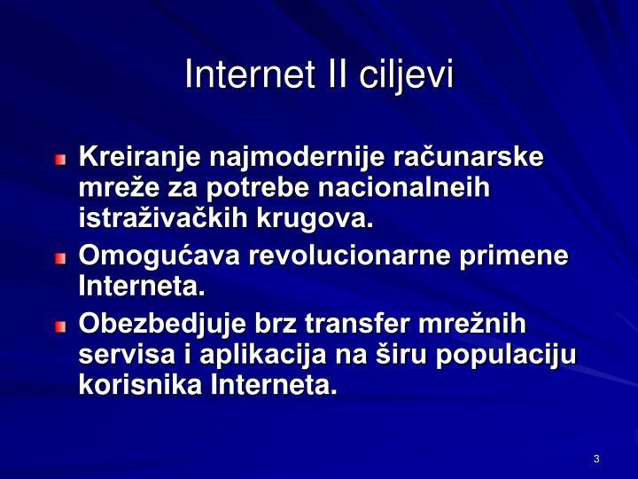 Internet ii ciljevi