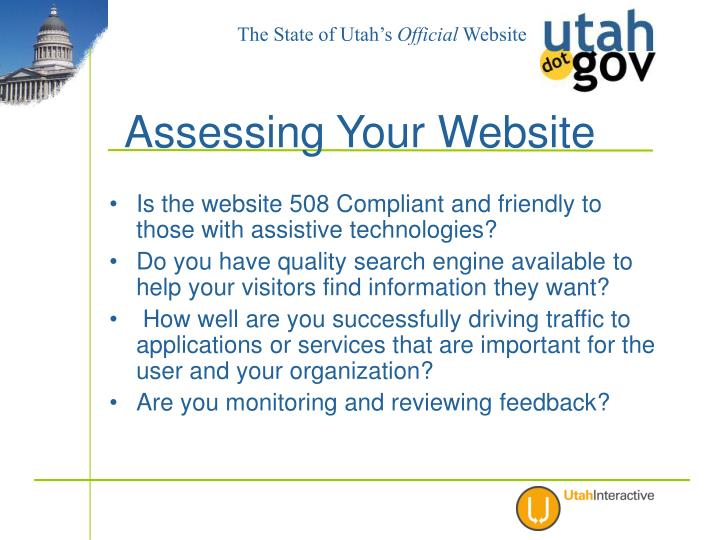 Is the website 508 Compliant and friendly to those with assistive technologies?