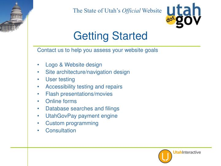 Contact us to help you assess your website goals