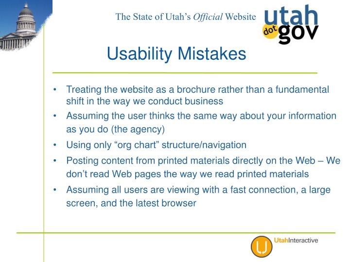 Treating the website as a brochure rather than a fundamental shift in the way we conduct business