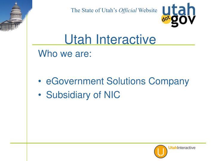 Utah interactive