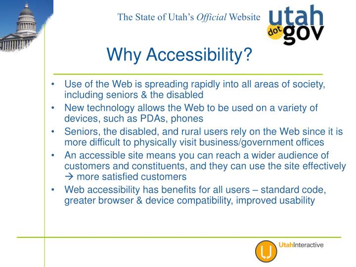 Use of the Web is spreading rapidly into all areas of society, including seniors & the disabled