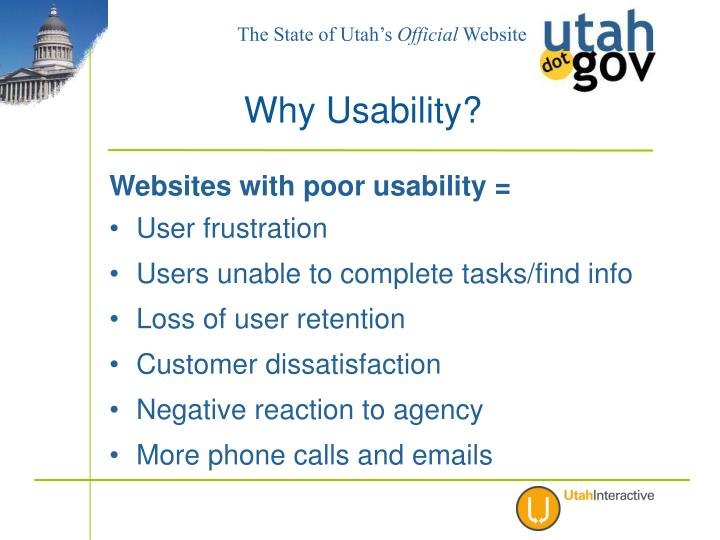 Websites with poor usability =