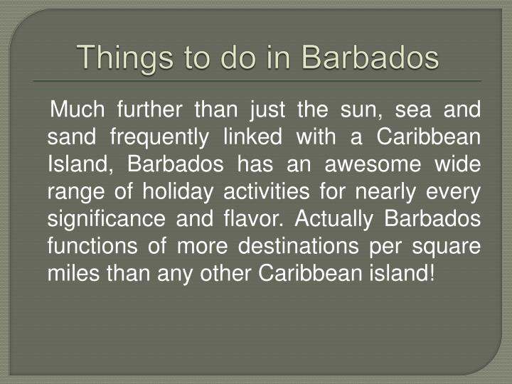 things to do in barbados n.