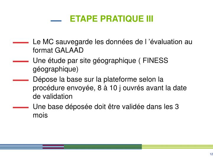 ETAPE PRATIQUE III