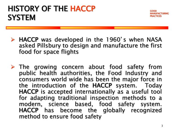 Ppt good manufacturing practices training about our food - Procedure haccp cuisine ...