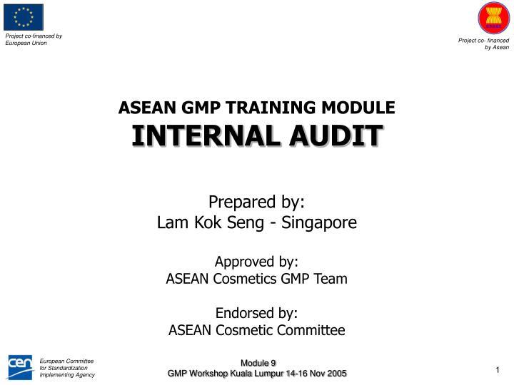ASEAN GMP TRAINING MODULE