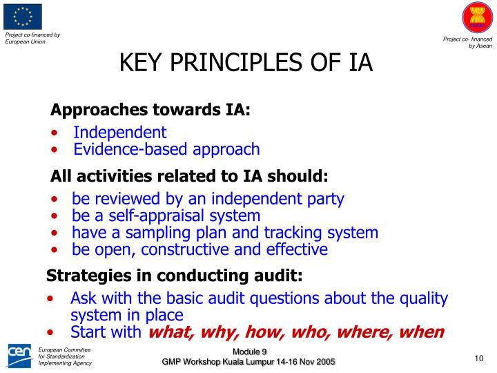 KEY PRINCIPLES OF IA
