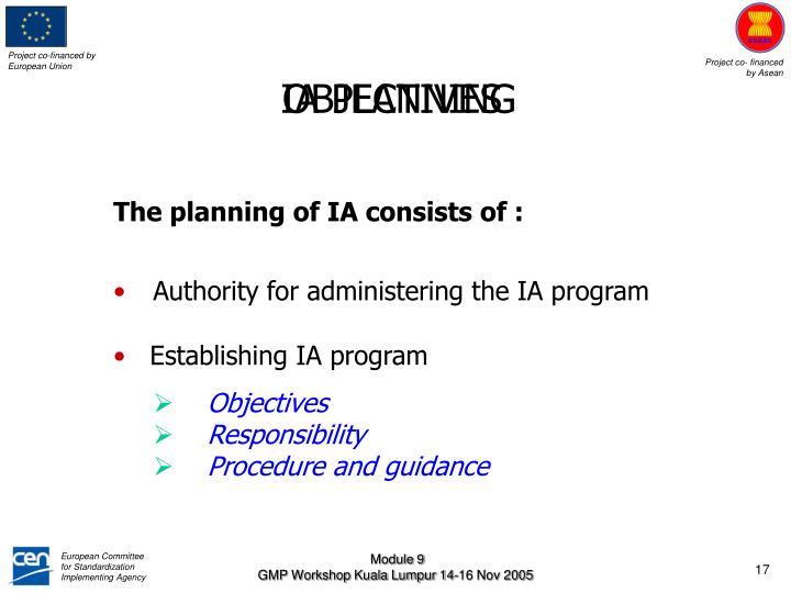 IA PLANNING