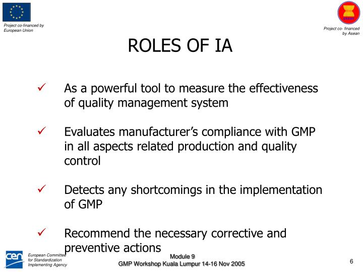 ROLES OF IA