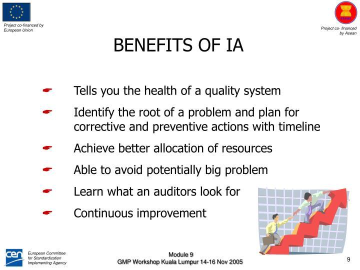 BENEFITS OF IA