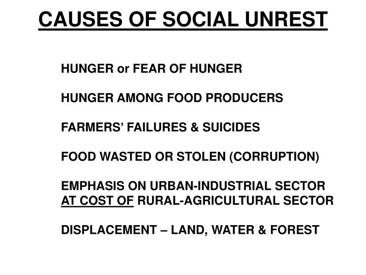 CAUSES OF SOCIAL UNREST