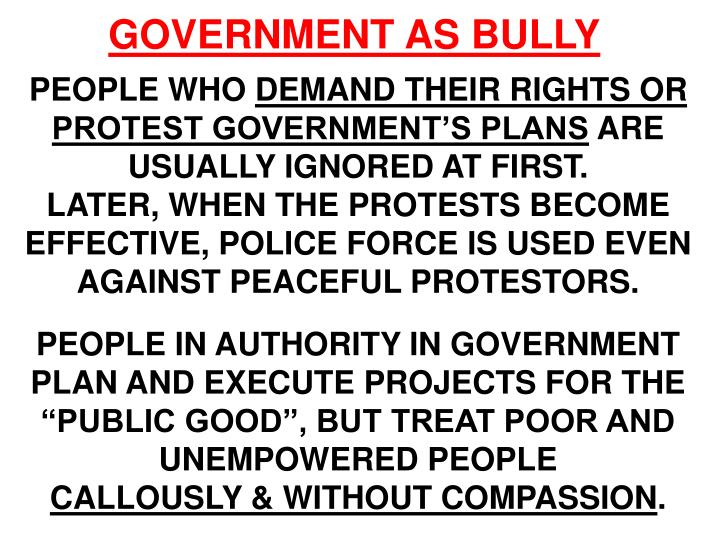 GOVERNMENT AS BULLY