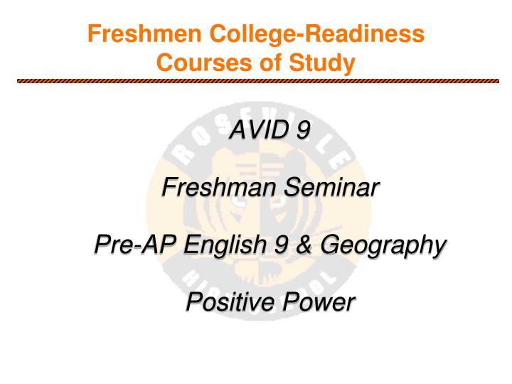 Freshmen College-Readiness