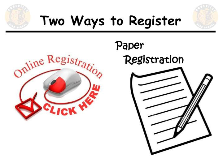 Two Ways to Register