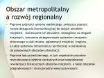 obszar metropolitalny a rozw j regionalny2