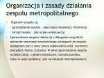 organizacja i zasady dzia ania zespo u metropolitalnego