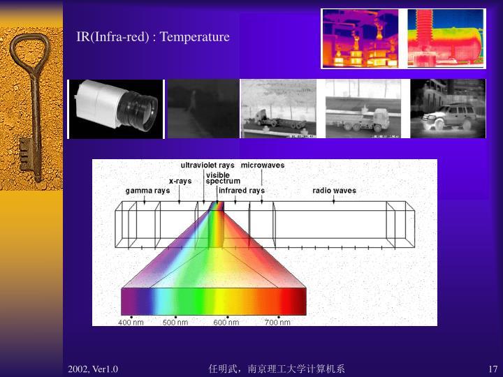 IR(Infra-red) : Temperature