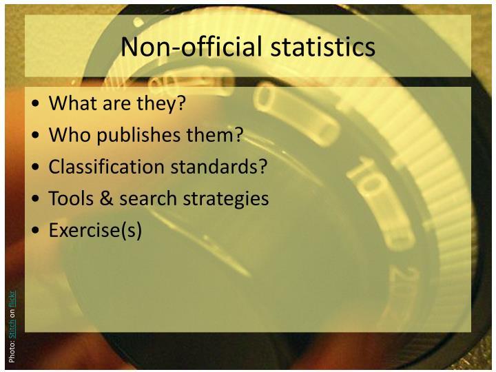 Non official statistics