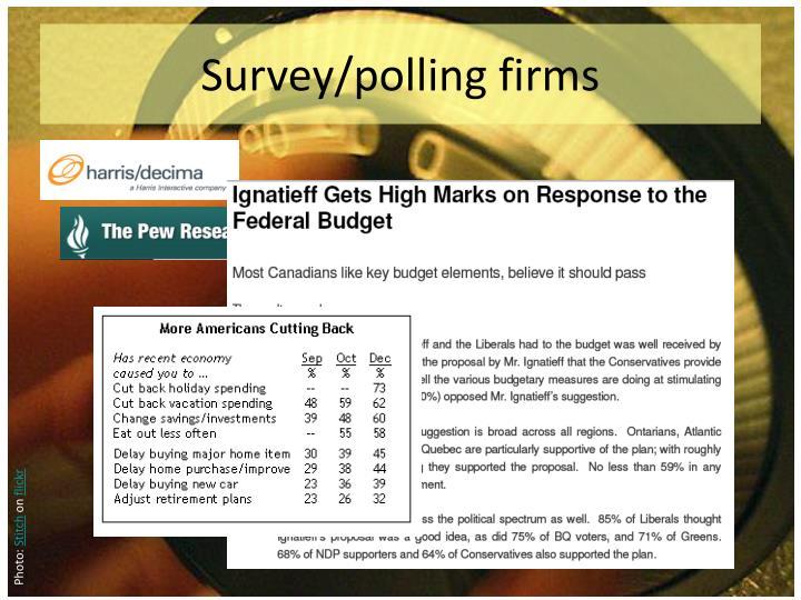 Survey/polling firms