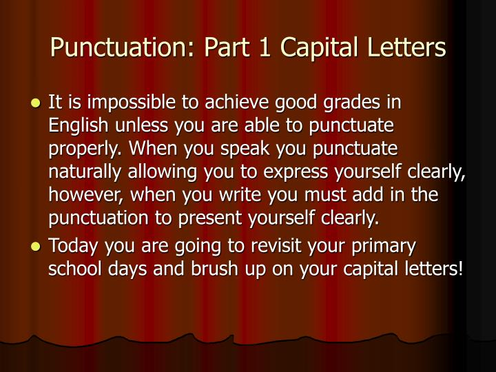 punctuation part 1 capital letters n.