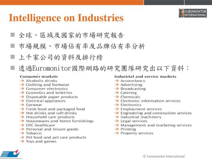 Intelligence on Industries