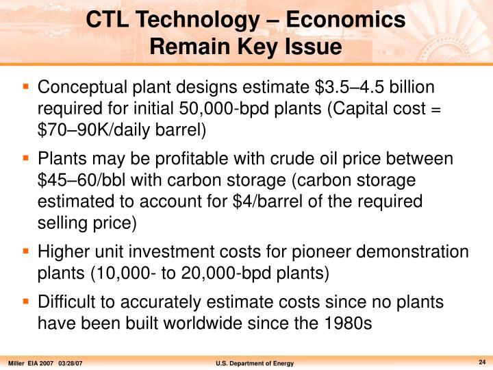 CTL Technology – Economics