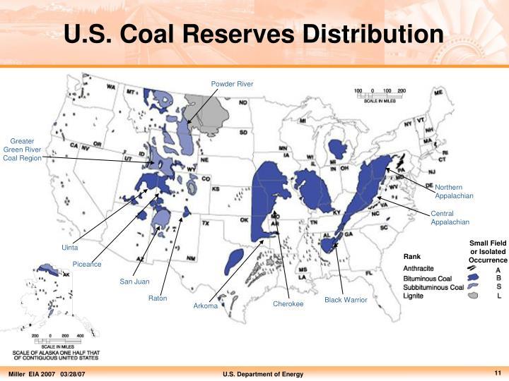 U.S. Coal Reserves Distribution