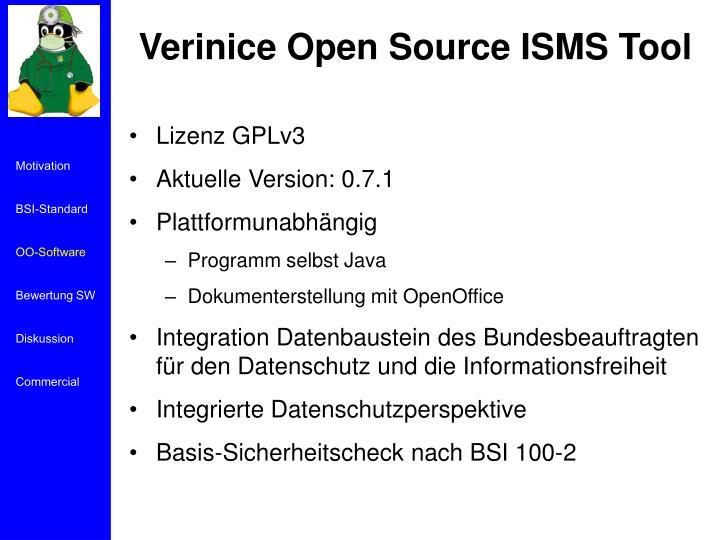 Verinice Open Source ISMS Tool